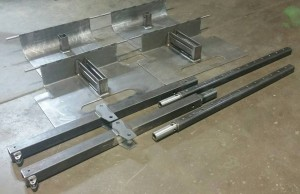 Multiple water jetted, bent, welded and fabricated assemblies