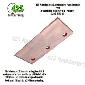 Replaces OEM P/N: 3222 3153 43 Sliding Piece Thin    425 P/N 1671
