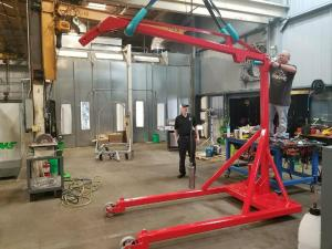 Installing Boom Arm After Paint
