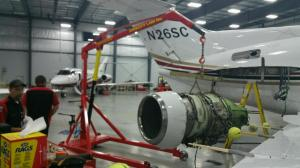 Removing Engine from Hawker 1000