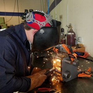 Mig Welding a custom machined weldment / assembly