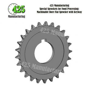 2299K330 MACHINABLE BORE FLAT SPROCKET KEYWAY