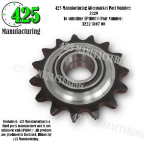 Replaces OEM P/N: 3222 3107 08 Sprocket Wheel 425 P/N 3329
