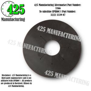 """Replaces OEM P/N: 3222 3339 07 Gasket 140MM 5.5"""" Budget $$$ From Conveyor Belting Material  425 P/N 3366-2"""