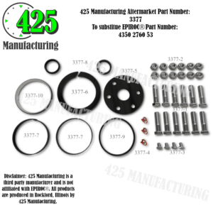 Replaces OEM P/N: 4350 2760 53 FLYTSUB Repair DHR6H Spare Parts Set                                    425 P/N 3377
