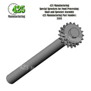 Shaft and Sprocket Assembly 425 P/N 3383