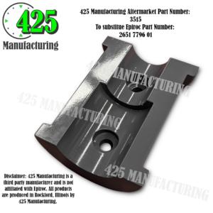 Replaces OEM P/N: 2651 7796 01 Gate Bushing Half T-51 Drill Steel 425 P/N 3515