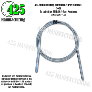 Replaces OEM P/N: 3222 3237 40 Wire Rope Double Threaded End.   425 P/N 3621