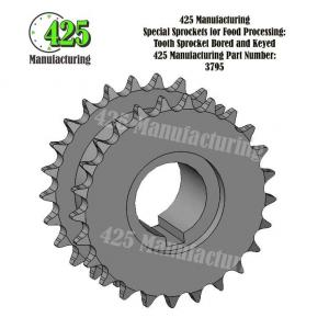 Tooth Sprocket Bored and Keyed 425 P/N 3795
