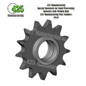 Sprocket with Welded Hub 425 P/N 3848