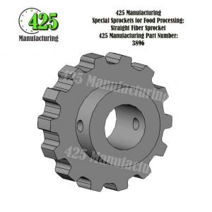 Straight Fiber Sprocket 425 P/N 3896
