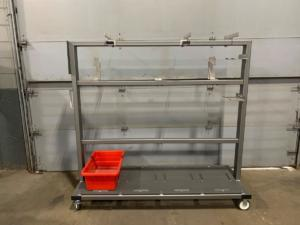Food Industry Cart with Expanded Metal