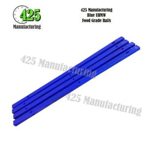 Blue UHMW Food Grade Rails
