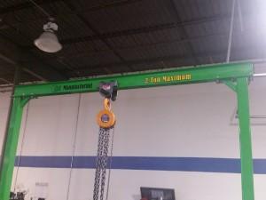 Custom built A frame gantry hoist