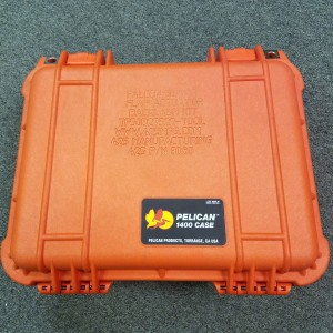 Orange Pelican Case for Kit Back View