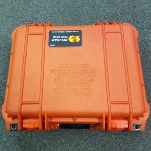 Orange Pelican Case for Kit Front View
