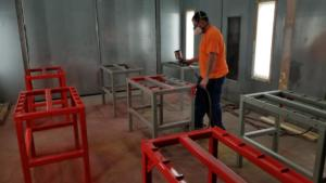 Red Paint for Welding Lab