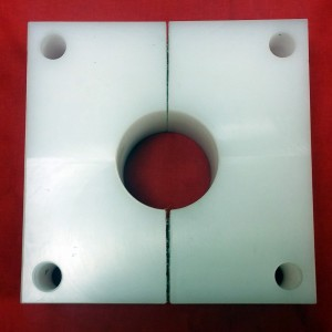 White UHMW Split Bearing Block