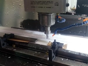 Machining UHMW Bottom Track Bracket